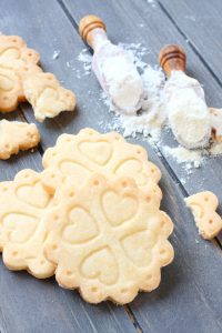 Homemade gluten free shortbread cookies